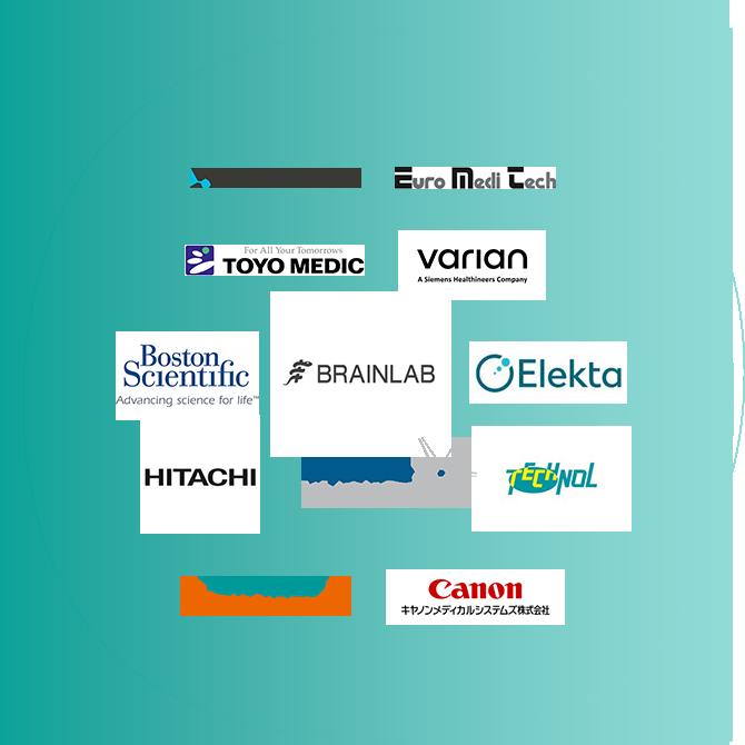 ACCURAY, Euro Medi Tech, TOYOMEDIC, varian, Boston Sclentific, BRAINLAB, Elekta, HITACHI, RaySearch Laboratories, TECHNOL, SIEMENS Healthineers, Canon